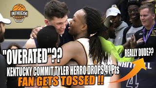 Miami Heat #13 Lottery Pick Tyler Herro Drops 41 Pts vs The Gentry Brothers & FAN GETS TOSSED