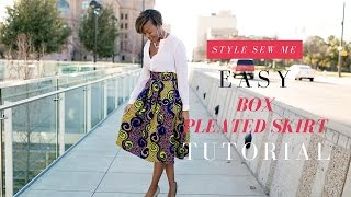 How to Sew An Easy Box Pleat Skirt Tutorial - No Hard Math Needed