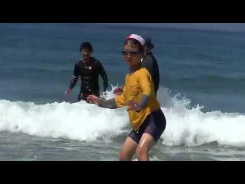 種子島の学校活動:花峰小学校サーフィン教室実践編