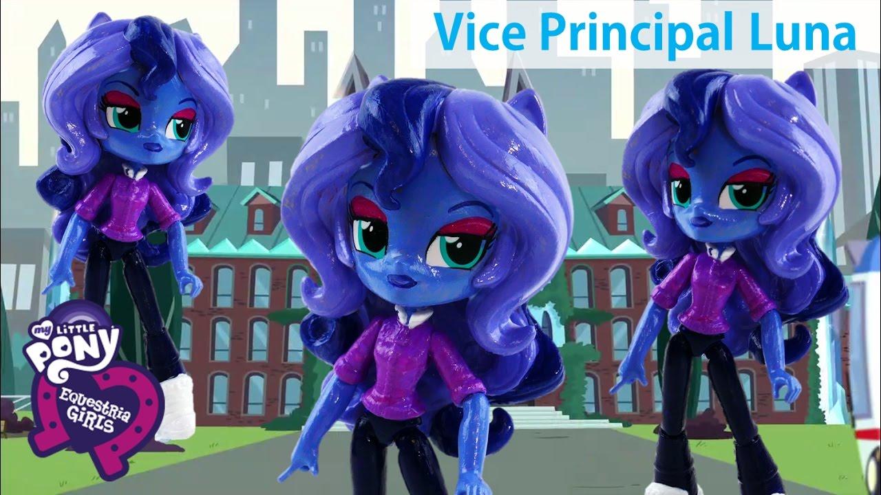 Custom My Little Pony Vice Principal Princess Luna Equestria Girls Minis Doll MLP Tutorial