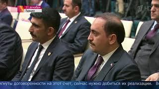 Владимир Путин обсудил сРеджепом Эрдоганом вопросы политического урегулирования вСирии.