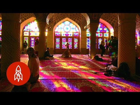Inside the Rainbow Colored Kaleidoscopic Mosque