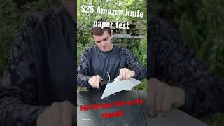 CHEAP AMAZON SURVIVAL KNIFE PAPER TEST!