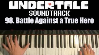 undertale battle against a true hero piano cover