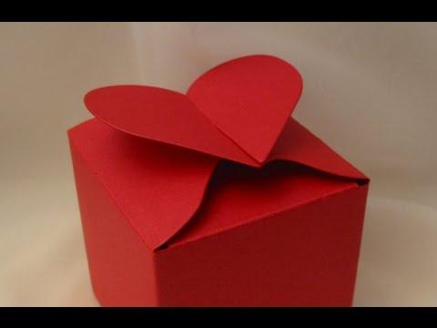 Коробка-сердце упаковка для подарка своими руками. Валентинка коробка с запиской.Коробка-сердце DIY