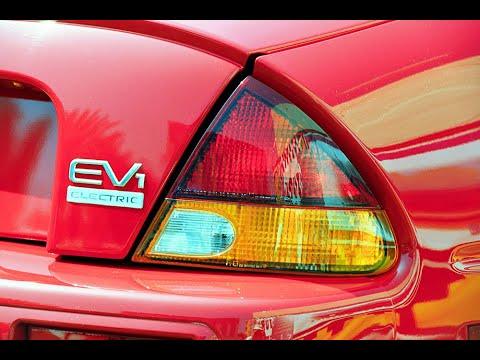 General Motors 1996 EV1 electric car - drive and TV commercial