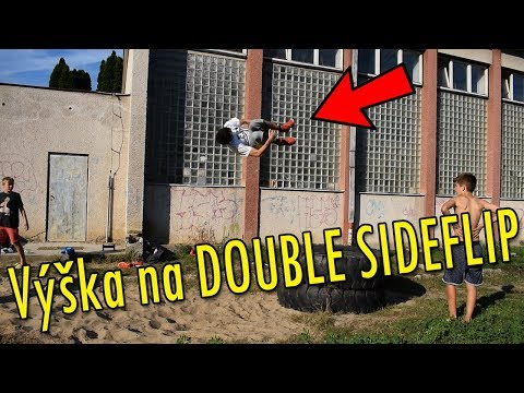 Výška na DOUBLE SIDEFLIP - Parkour Training Day #33