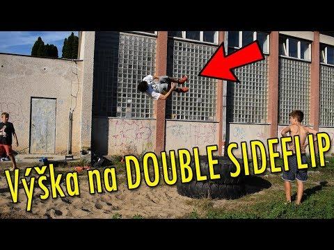 Výška na DOUBLE SIDEFLIP - Parkour Training Day #33
