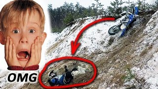 Enduro-Assholes Breaking Bikes on a Hills in the Pit