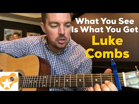 What You See Is What You Get   Luke Combs   Beginner Guitar Lesson