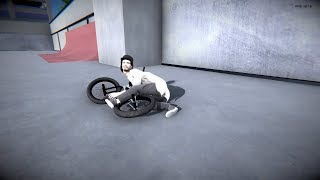 Learning how to ride a bicycle in BMX Streets: PIPE