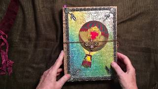 Part two the Junk Journal inside my decorated box. Inspired by heather Tracy