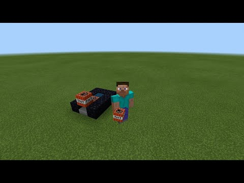 How to make a tnt cannon in minecraft pe *NO REDSTONE NEEDED*