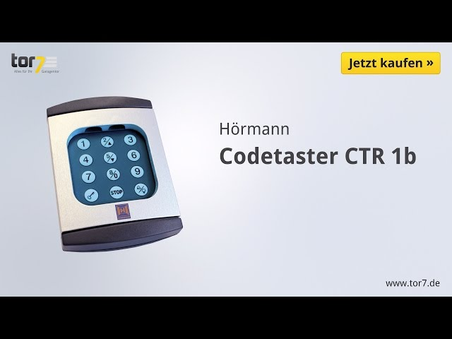 Produktvideo Hörmann Codetaster CTR 1b