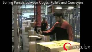 Sorting Parcels between Cages Pallets and Conveyors using Vaculex TP