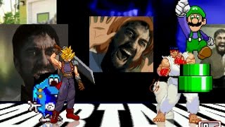 "M.U.G.E.N Requests: Cloud Strife & Stimpson ""Stimpy"" J. Cat vs. Ryu & Mama Luigi"