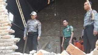 Gempa Situbondo Menyebabkan Puluhan Rumah di Jember Rusak