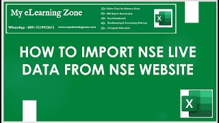 NSE Live Data in Excel II How to Import  Live Data in Excel form NSE