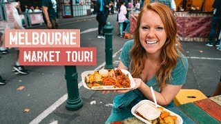 Melbournes BEST MARKET TOUR! Street Food, Donuts, Coffee & More! (Queen Victoria Market)