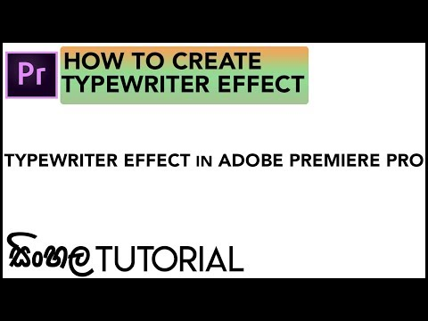 Download How To Tutorial Adobe Premiere Typewriter Effect Video 3GP