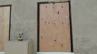 How to Board Up Window Opening