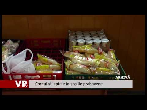 Cornul și laptele în școlile prahovene