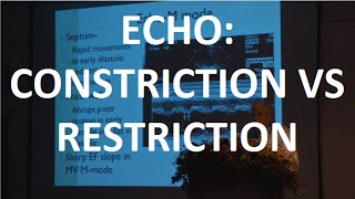 Echocardiography :Constriction Vs Restriction, Dr. K. Raghu