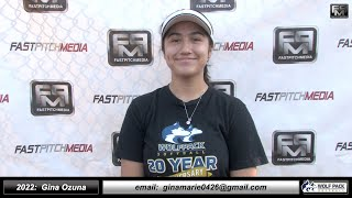 2022 Gina Ozuna - 3.8 GPA - Athletic Middle Infielder Softball Skills Video - Lady Wolfpack