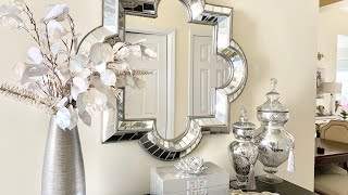 NEW 2020 FRONT ENTRYWAY DECORATING IDEAS|SPRING|GLAM
