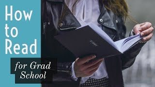 4 Rules for Grad School Reading