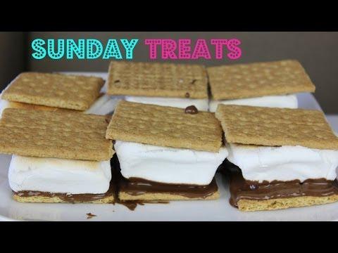 SUNDAY TREATS HOW TO MAKE DELICIOUS S'MORES|B2cutecupcakes