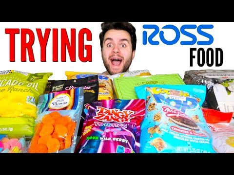 Ross FOOD Haul! – Trying Clothing Store Food!