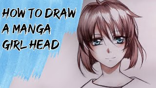 How to draw a Manga female head