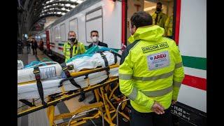 Covid, parte dalla Lombardia il 1 treno sanitario