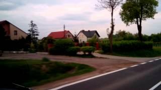 Дороги в Польше в селе