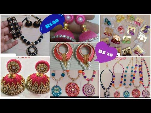 Handmade silk thread Necklace with price/ Customized silk thread jewellery/ wholesale