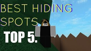 TOP 5 Hide And Seek Extreme Hiding Spots | Roblox