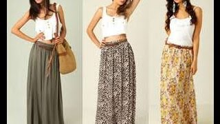 Howeasyy.com How To Make A Maxi Skirt In 5min Easy For Beginners Sewing
