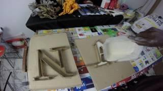 Comment faire une typographie en plâtre ?