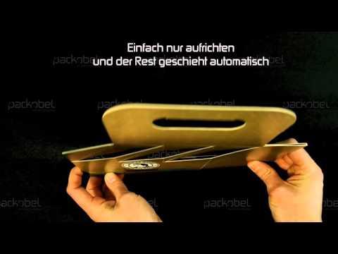 PACKOBEL® - Flaschenkorb und Sixpack Verpackung Faltanleitung (Verpackungsdruck)