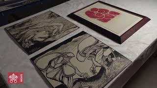 Aperçu de l'exposition sur la collection graphique contemporaine des Musées du Vatican
