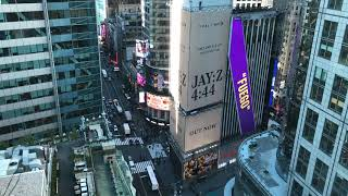 Times Square from 27 floors up