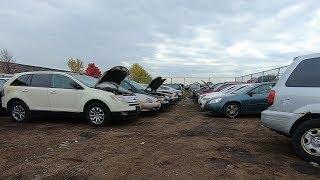 Автосвалка в США , машины на ходу на свалке. Пугали и угрожали пушкой в США)