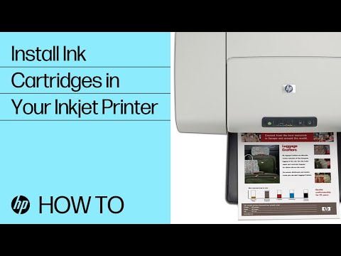 Installing ink cartridges in your Inkjet printer
