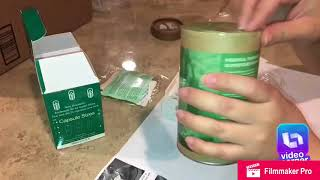 Filling up 00 capsules  with moringa with the capsule machine