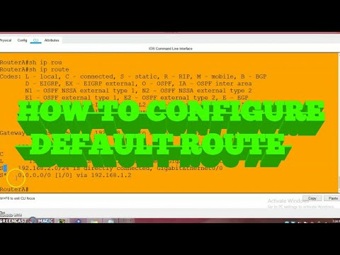 How to configure Cisco Default Route || Tamil|| Dinesh Kumar || Network beginners