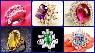 Most Beautiful And Charming All  Rare Gemstone Rings With Expensive Diamond For Engagement