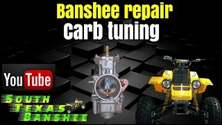 Banshee (stock) carb tuning, air mixture, synch and idle adjustment