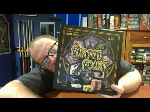 The Board Game Kaptain's review and tutorial for Cursed Court