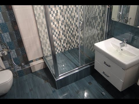 Как сделать душевую кабину СВОИМИ руками из ПЛИТКИ  Душевой поддон из плитки ванной Трапп В душ Под
